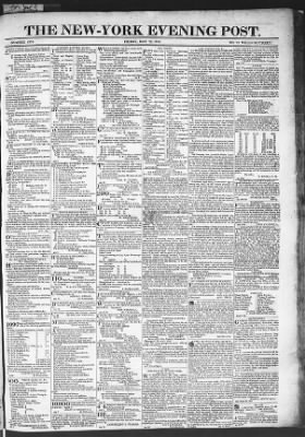 The Evening Post from New York, New York on May 22, 1818 · Page 1