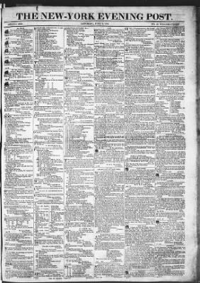 The Evening Post from New York, New York on June 6, 1818 · Page 1