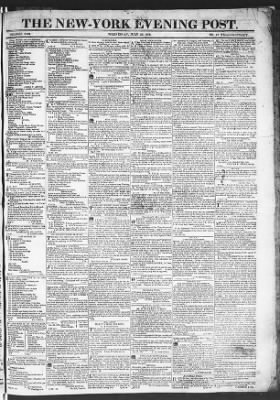 The Evening Post from New York, New York on July 29, 1818 · Page 1