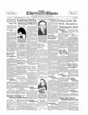 The Daily Courier from Connellsville, Pennsylvania on February 28, 1939 · Page 1