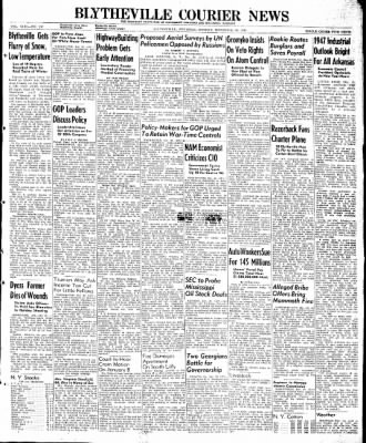 The Courier News from Blytheville, Arkansas on December 30, 1946 · Page 1