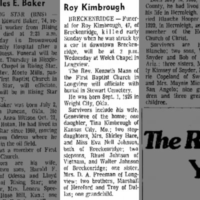Roy Kimbrough Obit