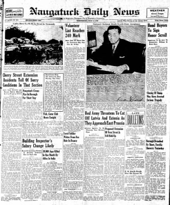 Naugatuck Daily News from Naugatuck, Connecticut on July 12, 1944 · Page 1