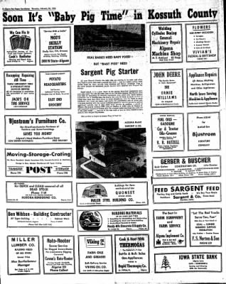 The Algona Upper Des Moines from Algona, Iowa on February 24, 1955 · Page 21
