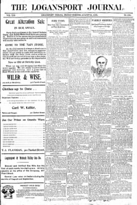 Logansport Pharos-Tribune from Logansport, Indiana on August 21, 1896 · Page 1
