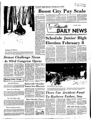 Estherville Daily News from Estherville, Iowa on January 3, 1973 · Page 1
