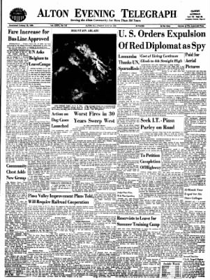 Alton Evening Telegraph from Alton, Illinois on July 22, 1960 · Page 1