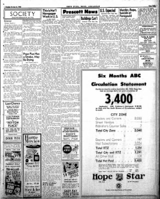 Hope Star from Hope, Arkansas on October 6, 1958 · Page 3