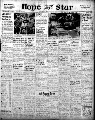 Hope Star from Hope, Arkansas on December 30, 1958 · Page 1
