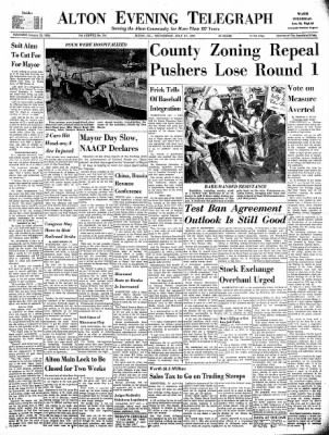 Alton Evening Telegraph from Alton, Illinois on July 17, 1963 · Page 1