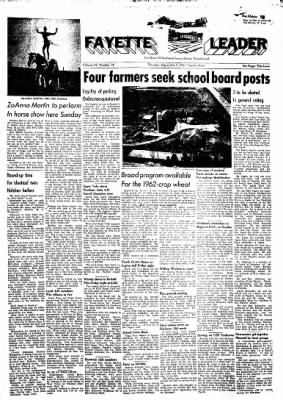 Fayette County Leader from Fayette, Iowa on September 7, 1961 · Page 1