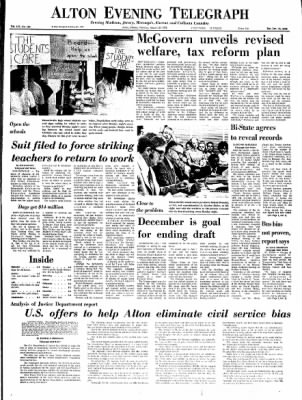 Alton Evening Telegraph from Alton, Illinois on August 29, 1972 · Page 1