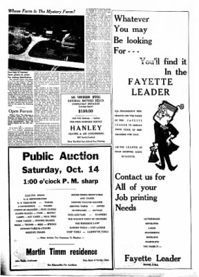 Fayette County Leader from Fayette, Iowa on October 12, 1961 · Page 5