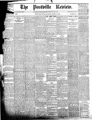 The Postville Review from Postville, Iowa on March 19, 1892 · Page 1