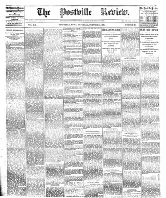 The Postville Review from Postville, Iowa on October 1, 1892 · Page 1
