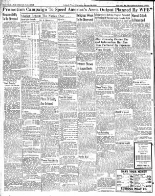 Lubbock Morning Avalanche from Lubbock, Texas on February 25, 1942 · Page 2