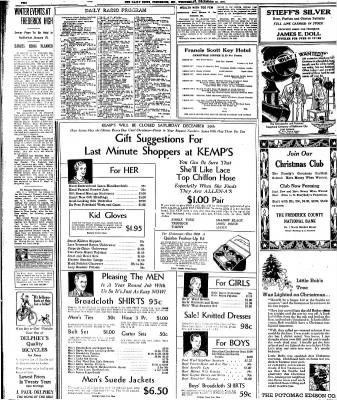 The News from Frederick, Maryland on December 23, 1931 · Page 2