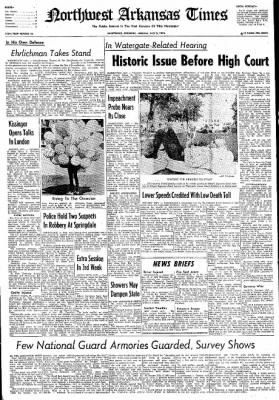 Northwest Arkansas Times from Fayetteville, Arkansas on July 8, 1974 · Page 1