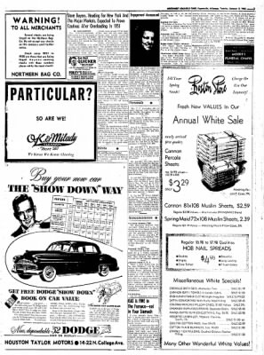 Northwest Arkansas Times from Fayetteville, Arkansas on January 8, 1952 · Page 3
