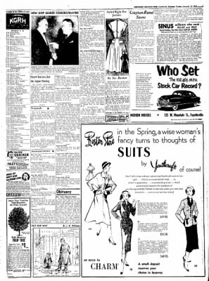 Northwest Arkansas Times from Fayetteville, Arkansas on January 15, 1952 · Page 3