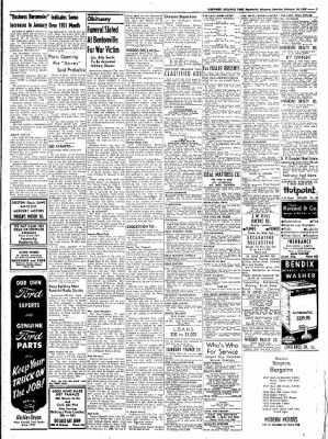 Northwest Arkansas Times from Fayetteville, Arkansas on February 16, 1952 · Page 7
