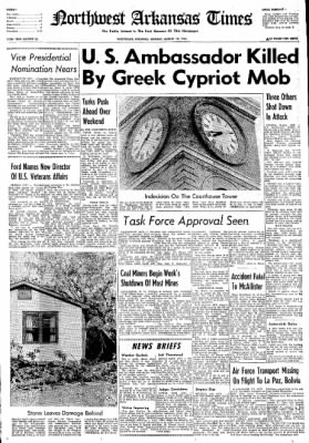 Northwest Arkansas Times from Fayetteville, Arkansas on August 19, 1974 · Page 1