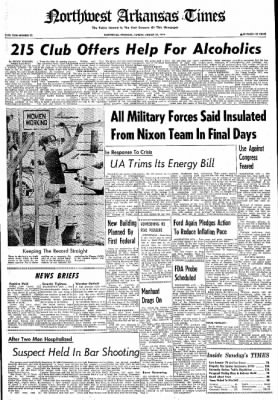 Northwest Arkansas Times from Fayetteville, Arkansas on August 25, 1974 · Page 1