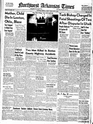 Northwest Arkansas Times from Fayetteville, Arkansas on April 12, 1952 · Page 1