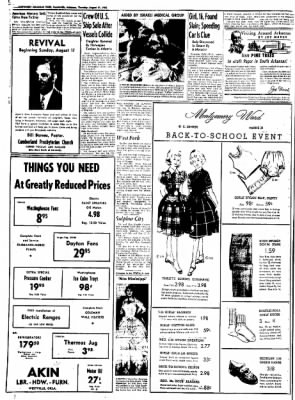 Northwest Arkansas Times from Fayetteville, Arkansas on August 21, 1952 · Page 6