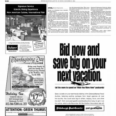 Pittsburgh Post-Gazette from Pittsburgh, Pennsylvania on November 12, 2004 · Page 111