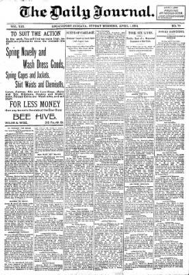 Logansport Pharos-Tribune from Logansport, Indiana on April 1, 1894 · Page 1